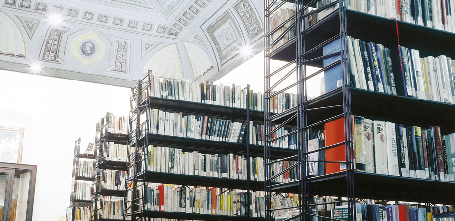 Sistema di arredo per biblioteche monnalisa di caimi for Arredi per biblioteche