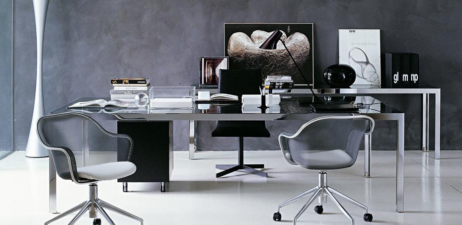 Scrivania ufficio in vetro design progetto 1 di b b italia for Design ufficio srl roma