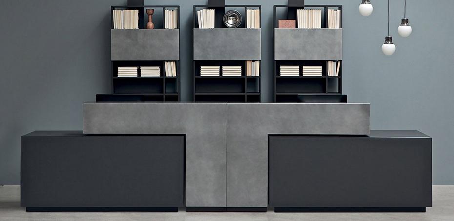 Bancone reception modulare bridge di estel scrivaniadesign for Bancone reception ufficio
