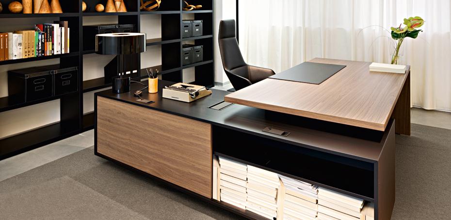 Scrivania direzionale in legno per ufficio report di sinetica for Scrivania direzionale