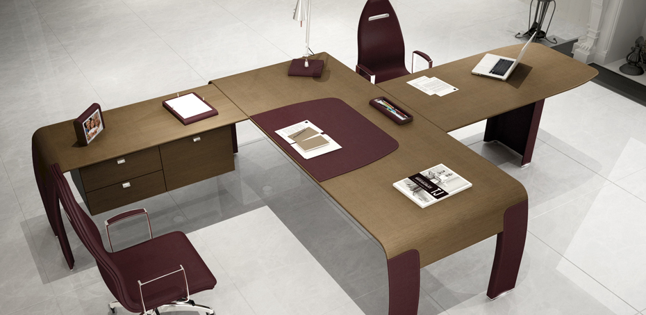 Scrivanie ufficio alfa omega di codutti scrivaniadesign for Stock mobili ufficio
