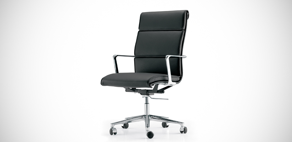 Poltrona direzionale in vera pelle una chair di icf office for Sedie ufficio design
