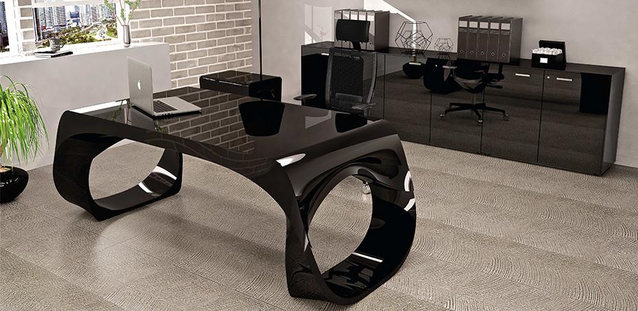 Scrivania moderna ufficio infinity di babini design for Consolle scrivania moderna