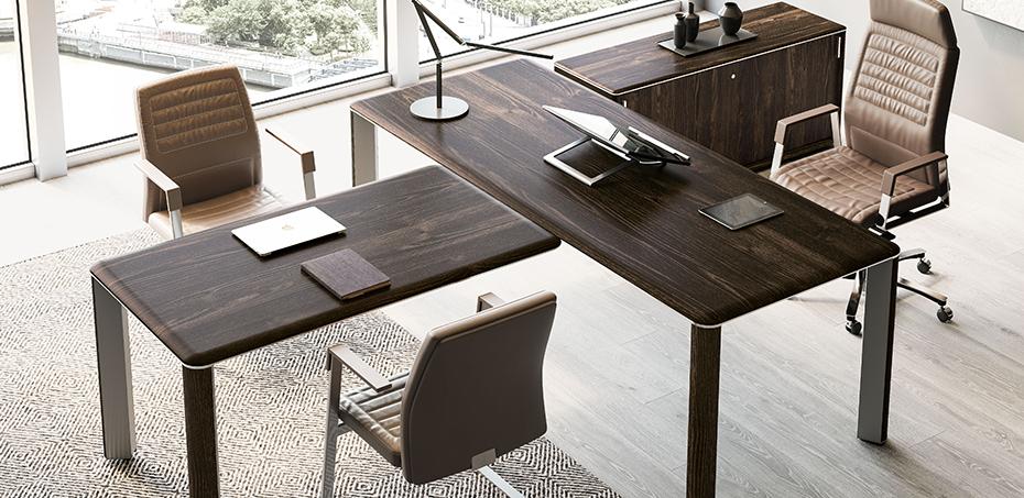 Scrivania moderna iulio di las mobili si design for Consolle scrivania moderna