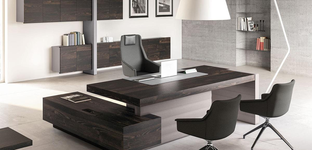 Scrivania moderna jera di las mobili per studi professionali for Mobili di designer