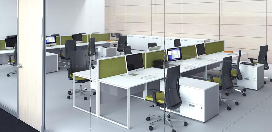 Scrivania operativa per uffici moderni 5th element di las for Las mobili ufficio