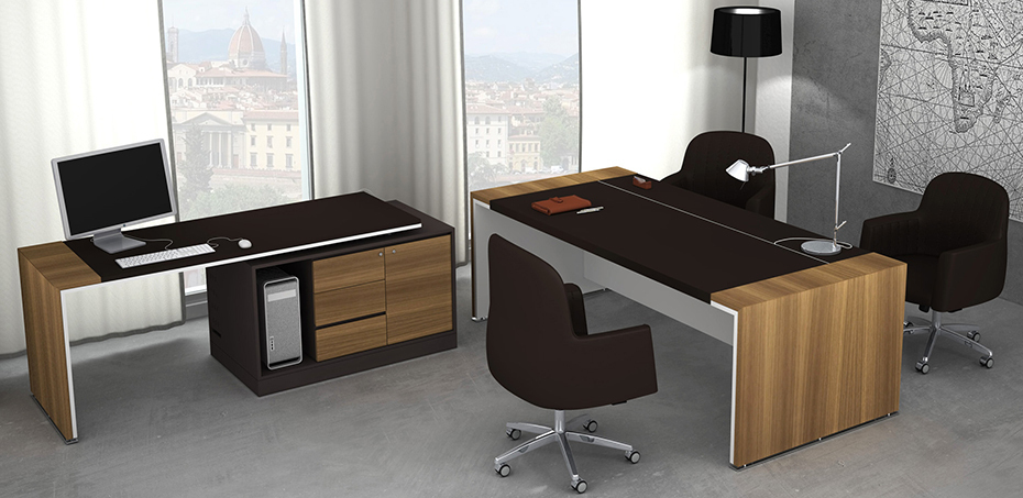 Scrivania design moderno loop in di estel office for Consolle scrivania moderna