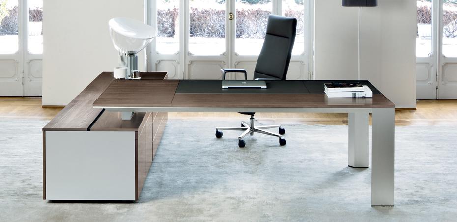 Scrivania moderna in legno ono di frezza design perin topan - Scrivanie legno design ...