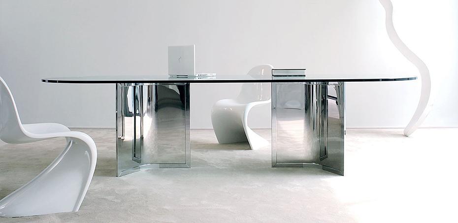 Tavolo Riunioni In Vetro.Tavolo Riunioni Vetro Raj Di Gallotti Radice Design Ricardo Bello