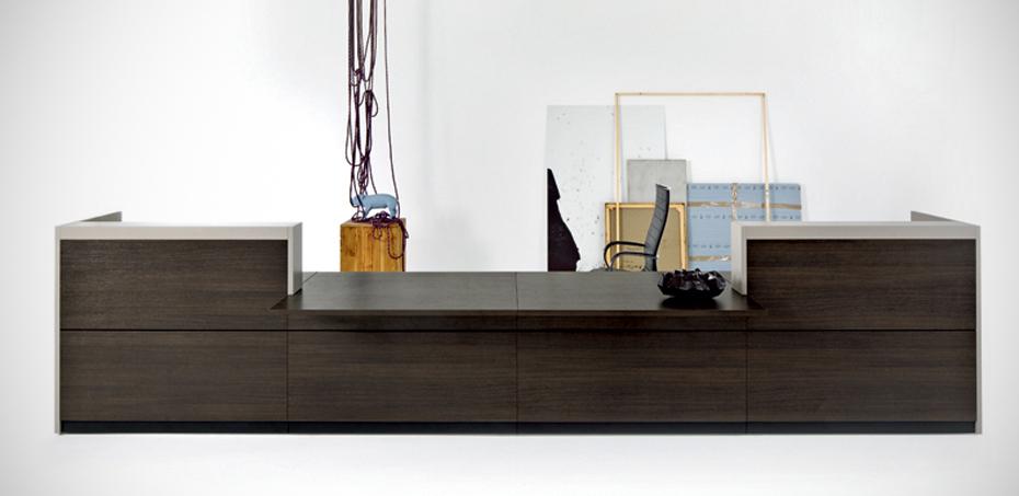 Bancone reception vogue di frezza scrivaniadesign - Disenadores de muebles modernos ...