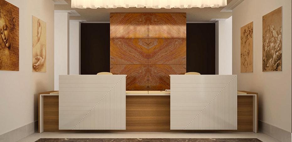 Estel Mobili Per Ufficio.Bancone Reception Loop In Di Estel Office