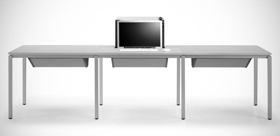 Tavoli polifunzionali per aule didattiche multimediali - Tavolo multimediale ...