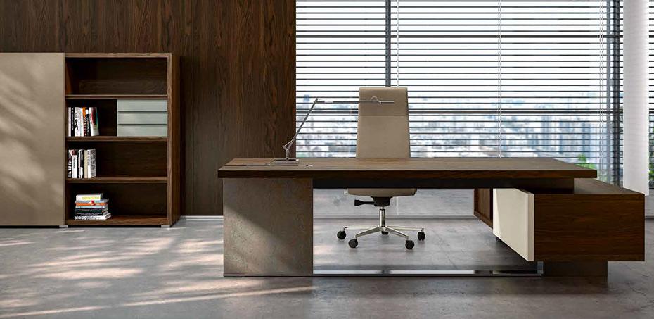 Scrivania design ufficio trimat di ora office design for Scrivania design