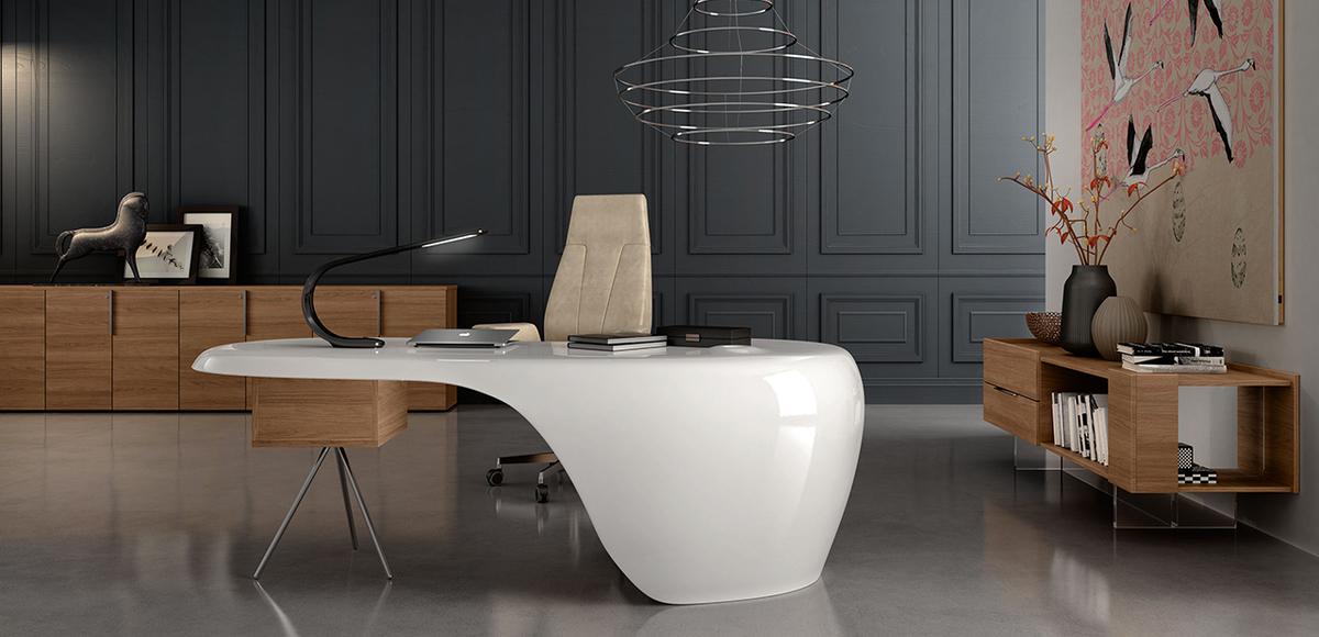 Design Per Ufficio.Scrivania Ufficio Uno Di Della Rovere