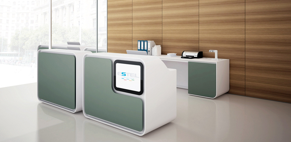 ... Home > Banconi Reception > Mobili per reception Vega di Estel Office